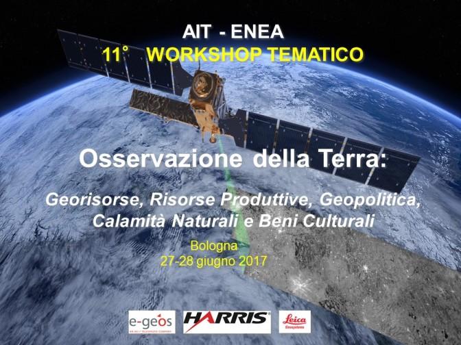 11° Workshop Tematico di Telerilevamento – 27-28 giugno 2017, Bologna